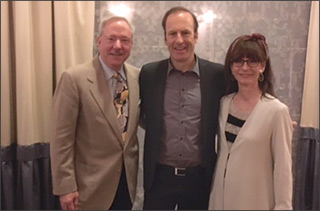 Brian Light, Bob Odenkirk, Daryl Sparks at HFPA Grant Awards dinner